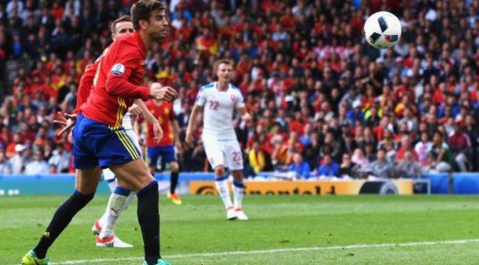 Berita Euro 2016 Gerard Pique Pahlawan Spanyol Atas Ceko